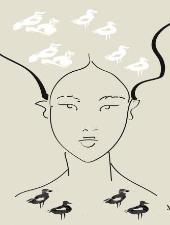 kobieta z wydm – mewy